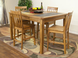 Sedona Extension Counter high Table with 4 Counterstools