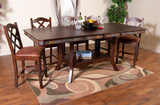 Santa Fe Counter height table with 4 counterstools