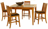 Telluride Gathering table with 4 counterstools