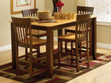 Amish Craftsmen Oak Venice gathering height dining set