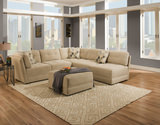 Luis 2-Piece Modular Sectional and Cocktail Ottoman Set