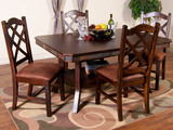 Santa Fe Double butterfly table with 4 side chairs