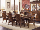 Larkspur trestle table and 4 side chairs