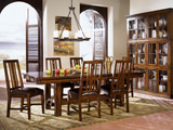 Mesa Rustica Table with 4 Slat Side Chairs