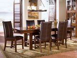 Mesa Rustica Table with 4 Leather Parson Style Chairs