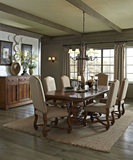 Jardin Royale Mahogany dining table and 4 side chairs