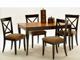 Lauren table and 4 X back side chairs, by Bermex