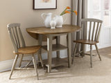 "Al Fresco 42"" round table with 2 side chairs"