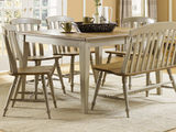 Al Fresco Dining table with chairs and bench