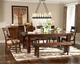 Vineyard Mahogany Table with 4 Side Chairs