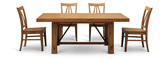 Summerhill Dining table and 4 wood side chairs