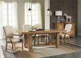 Summerhill dining table and 4 linen side chairs