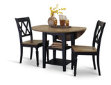 Al Fresco Black Drop Leaf Table and 2 Side Chairs