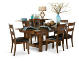 Mariposa Table and 4 Side Chairs