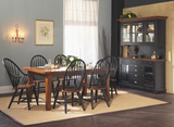 Riverside Leg Table with 4 windsor side chairs
