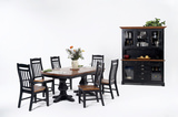 Riverside Pedestal Table With 4 Slat Back Side Chairs