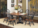 Riverside Pedestal Table With 4 Windsor Side Chairs