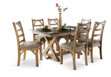 West Valley Bluestone Trestle Table with 4 Side Chairs