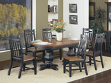 Riverside 7 piece double pedestal dining room package