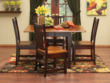 Amish Craftsmen Saber Drop-leaf dining with schoolhouse chairs