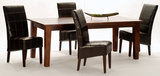 Vienna table with 4 Stanford leather chairs