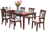 Madison Avenue Dining table with 4 side chairs and 2 arm chairs.