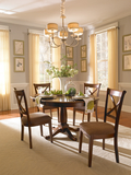 """Desoto 42"""" Round Table with 4 Side Chairs"""