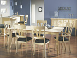 Moderne Dining table with 4 flair side chairs