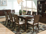 Spiga Contemporary Dining table with 4 side chairs