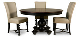 Williamsport Dining table and 4 linen side chairs