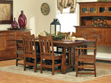 Aurora Quartersawn White Oak Dining Table with 4 Side Chair