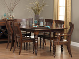 Springfield dining table with 4 side chairs