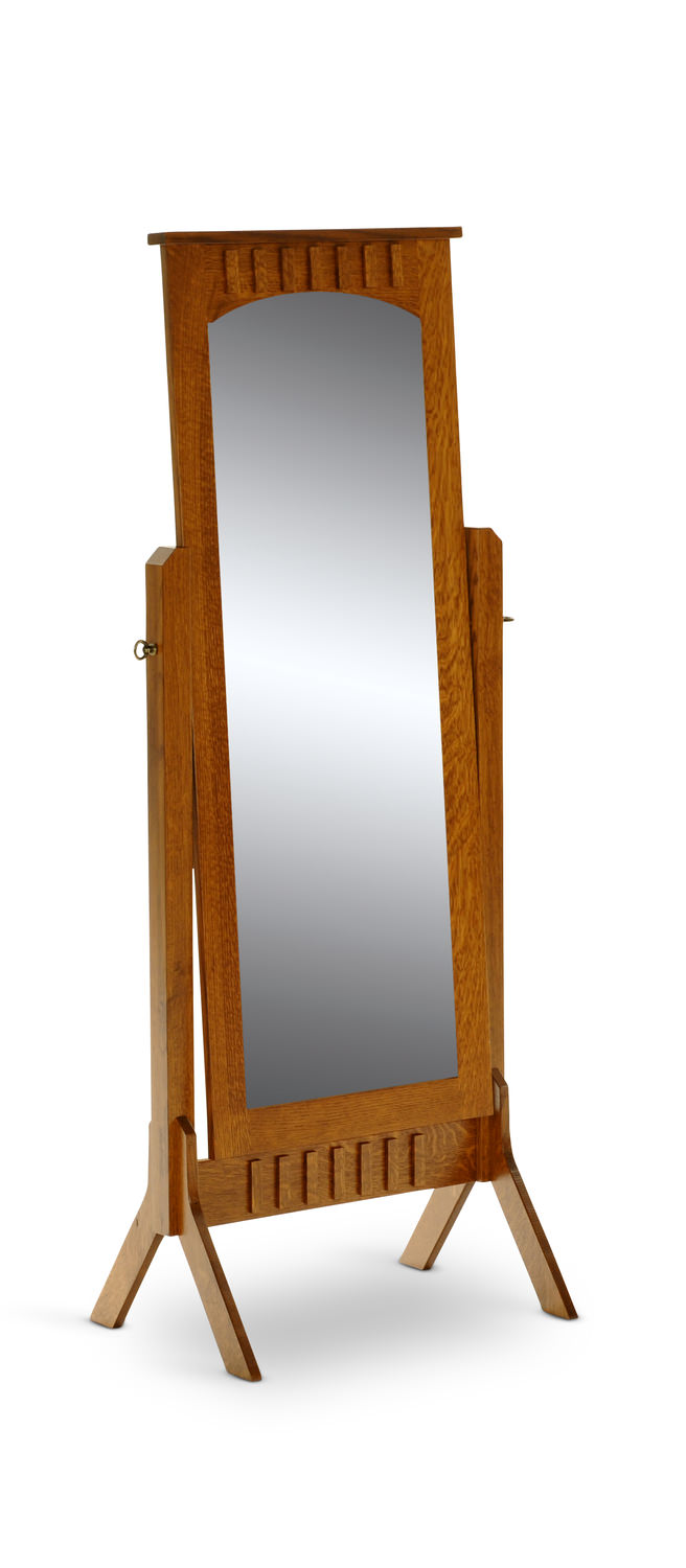 Solid Quartersawn White oak cheval mirror by Amish Craftsmen