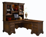 Richmond cherry desk with return and hutch