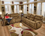 Fandango Reclining Sofa and Reclining Sofa with Console Set