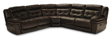 Hallmark 5 Piece Leather Power Recline Sectional (3 Reclining Seats, 2 With Power)