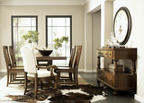 Newburgh Dining Table with 4 Wood Side Chairs