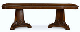 Old World Double Pedestal Table