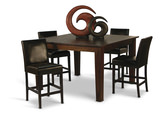 Provence Counter Height Dining Table with 4 Janus Countertstools