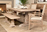 Stone Wash Hudson Extension Dining Table with 4 Side Chairs