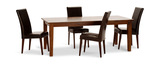 "Provence 82"" Dining Table with 4 Leather Janus Chairs"