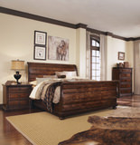 Whiskey Oak King Sleigh Bedroom Suite