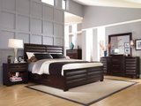 Vogue 4 PC King Panel Bedroom Suite With Two Plain Rails