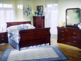 Louis Philippe 4 Piece Queen Bedroom Suite