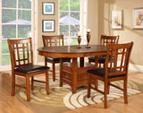 Mission Park Dining Table and 4 Side Chairs