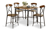Riviera Counter Table with 4 Counterstools