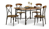 Riviera Dining Table with 4 Side Chairs
