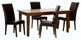 "Provence 65"" Dining Table With 4 Leather Chairs"